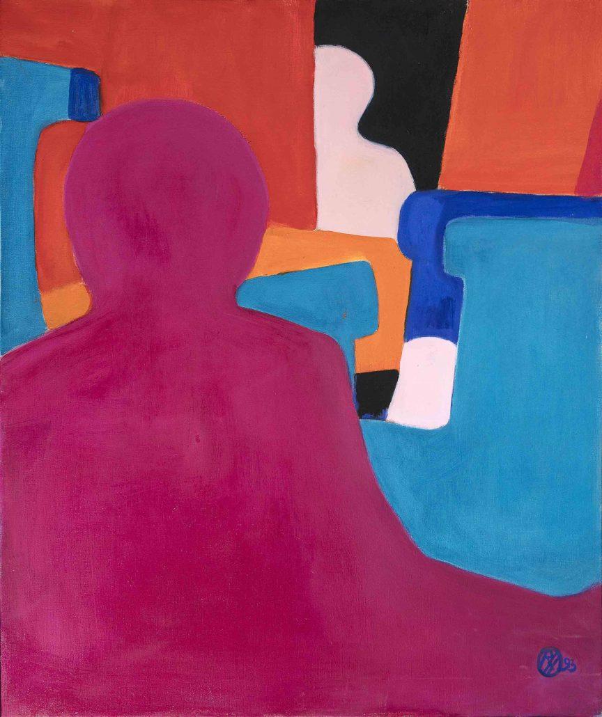Interieur mit blauen Sesseln, 1993