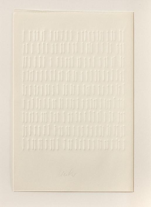 einsam gemeinsam – Buch mit fünf Prägedrucken - Nr. 5, 1971