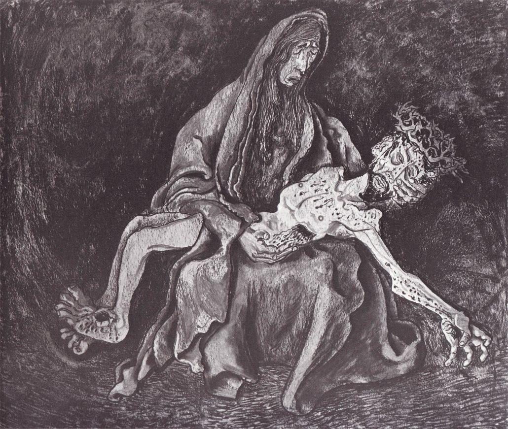 """""""Maria mit dem Toten"""" (Pietà) aus """"Die Passion"""", 1933"""