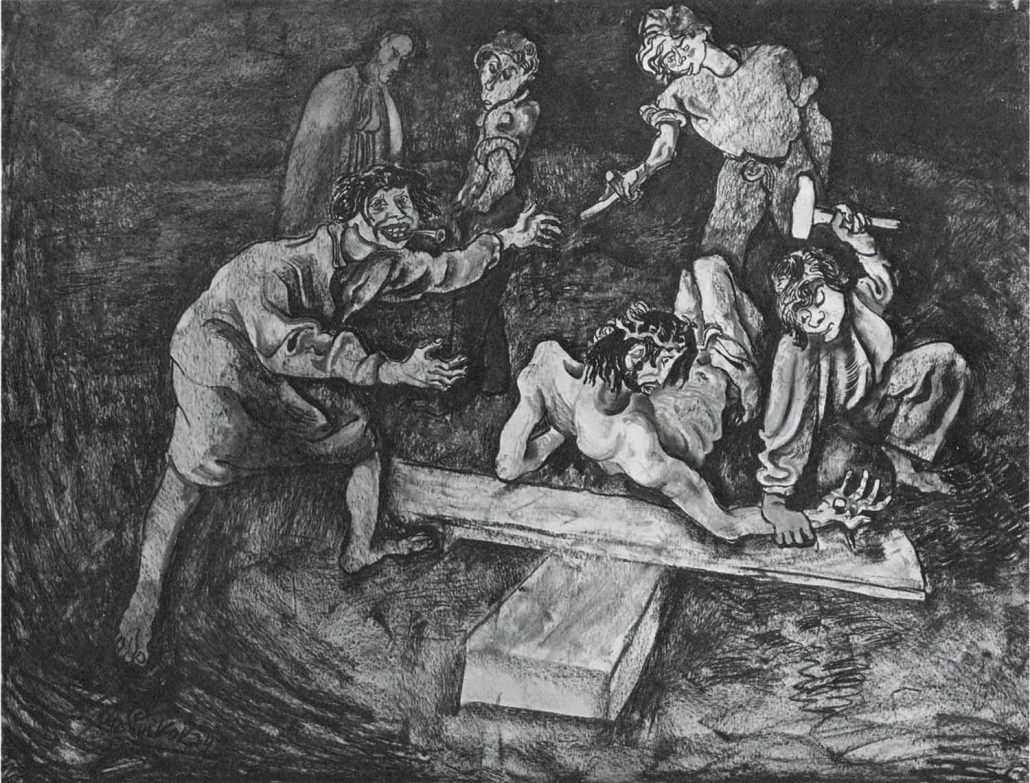 """Sie nageln ihn ans Kreuz, 1933""""Sie nageln ihn ans Kreuz"""" aus """"Die Passion"""", 1933"""