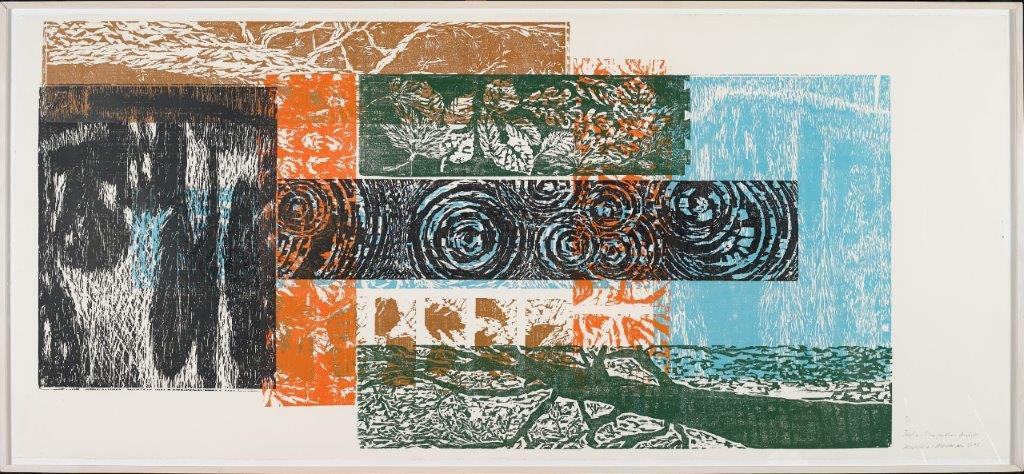 Berlin-Tiergarten, Herbst, 2006, Farbholzschnitt, 125x280 cm, Auflage 3, Exemplar 3 von 3