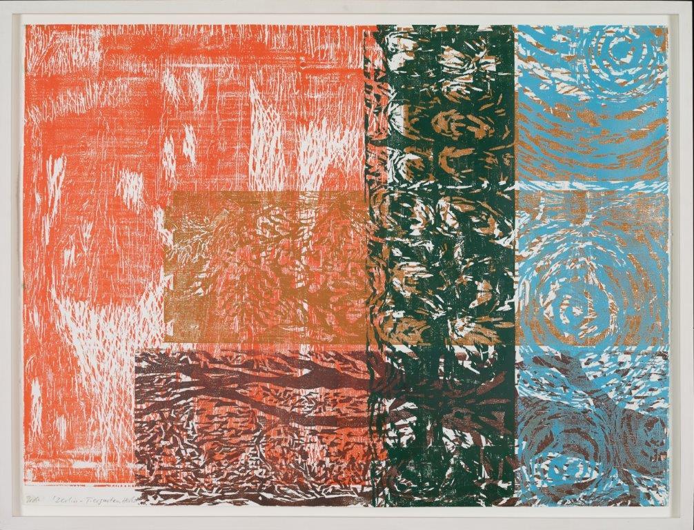 Berlin-Tiergarten, Herbst, 2006, Farbholzschnitt, 97x127 cm, Probedruck