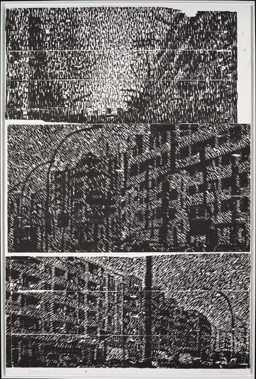 Potsdamer Straße, B, 2012, Holzschnitt, 228 x 153 cm, Auflage 3, Exemplar 2 von 3