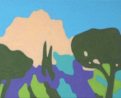 BENJAMIN NACHTWEY, Mont Gaussier, 2018, 40 x 60 cm, Acryl, Leinwand