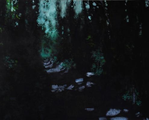 BENJAMIN NACHTWEY, Piana-Wald, 2014, 200 x 300 cm, Acryl, Leinwand